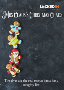 Everyone has heard that Mrs Claus makes the best cookies in the world. This year, the Queen will be tasting these fine cookies before she gives them her stamp of approval. But there is one huge problem . . . the cheeky elves have mixed her famous cookie recipe up and the treats she was due to serve her majesty will be ruined. Can you help Mrs Claus find the recipe and get the cookies made in time?